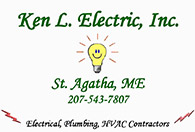 Ken L Electric, St Agatha, Maine